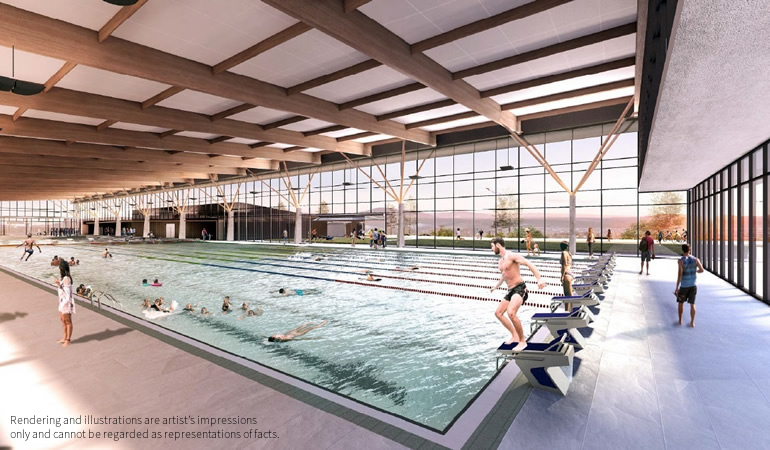 Stromlo Leisure Centre Render