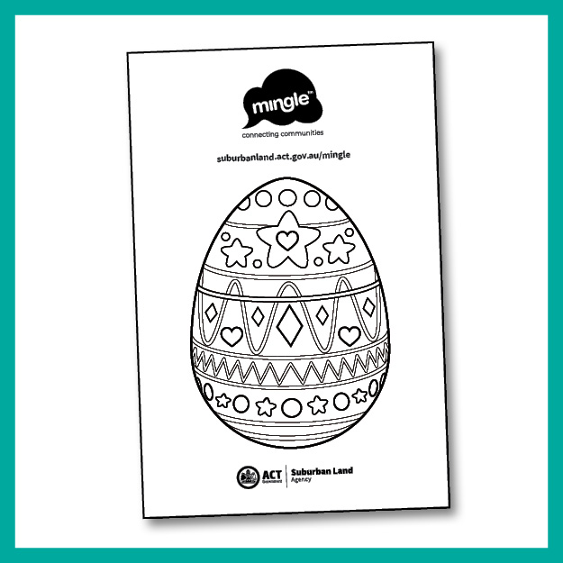 Easter Egg colouring in sheet