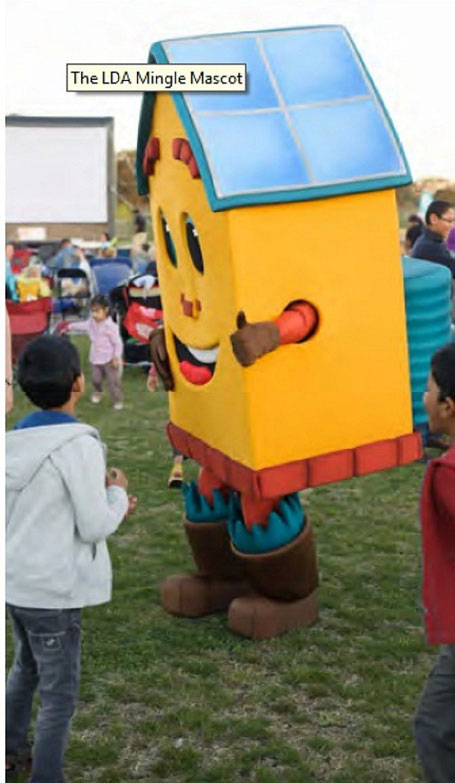 The LDA Mingle Mascot