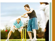 Bonner Image - Playing cricket