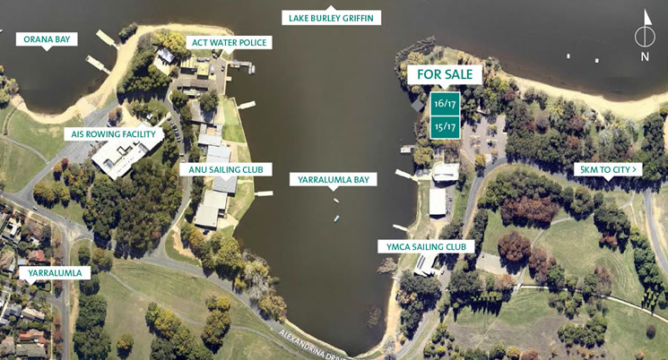 Land for Sale by Auction – Unique Yarralumla Waterfront Sites