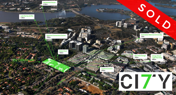 Landmark Canberra CBD site, City 7, sold at auction