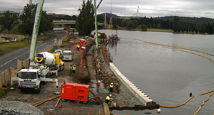 West Basin Waterfront Underway