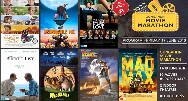 Gungahlin Movie Marathon $5 Tickets on Sale
