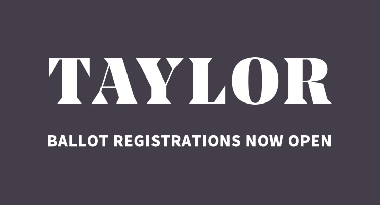 Taylor Ballot Registrations Now Closed