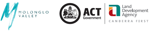Molonglo Valley, ACT Government and Land Development Agency Logos
