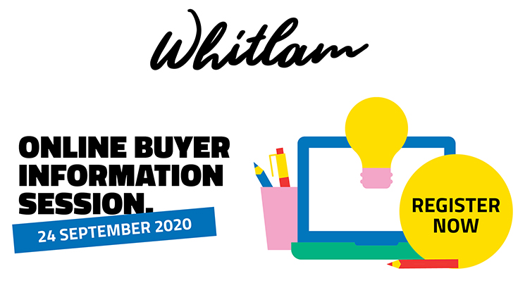 Your next opportunity to call Whitlam home is almost here