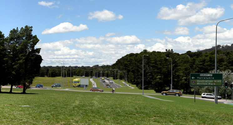Canberra Brickworks access road and Dudley Street upgrade