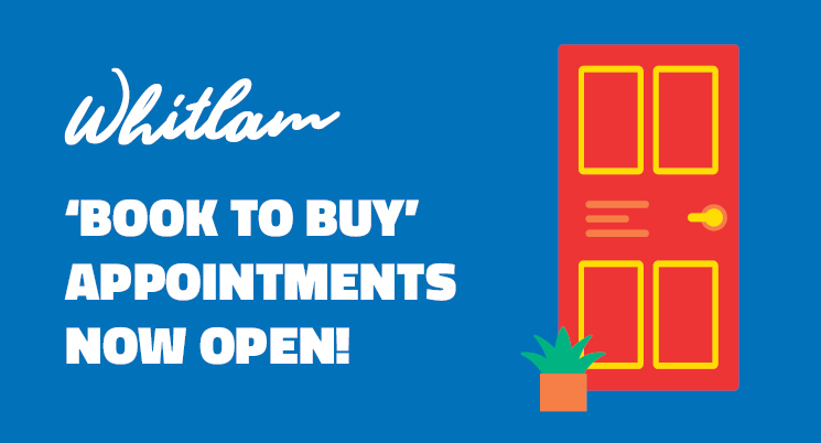Whitlam's 'Book to Buy' Sales Appointments Now Open