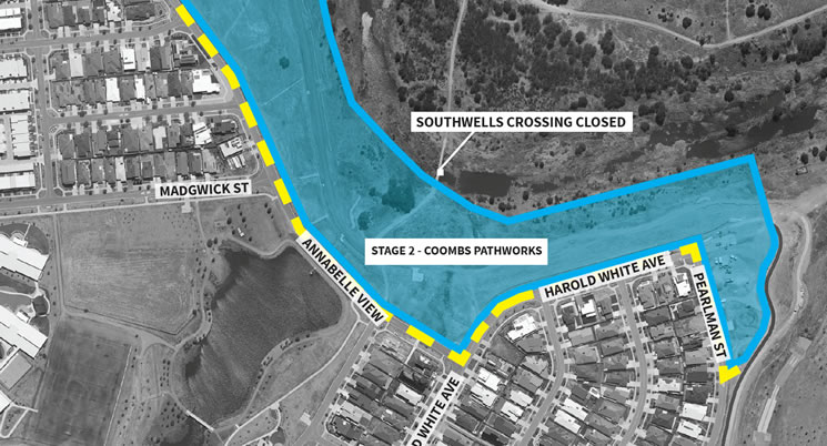 Landscape and path improvements in Coombs - Stage 2 update