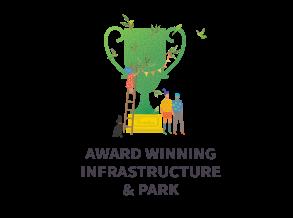 Award winning infrastructure & park