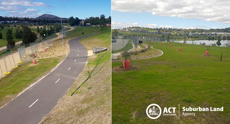 Stage 1 Coombs Paths & Landscaping Works - Temporary Fences Update