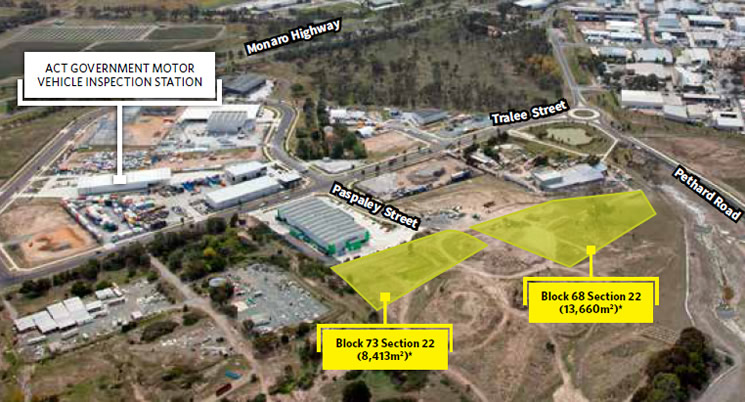 Two large scale industrial blocks in Hume: Expression of Interest