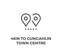 4km to Gungahlin Town Centre