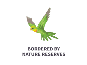 Boarded by nature reserves